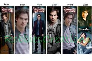 3 - The VAMPIRE DIARIES TV Bookmarks Books Stefan Damon in Books, Accessories, Bookmarks | eBay