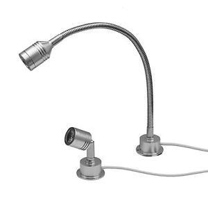 3 watt led aluminium leseleuchte schwanenhals bettleuchte wand leuchte lampe 12v. Black Bedroom Furniture Sets. Home Design Ideas