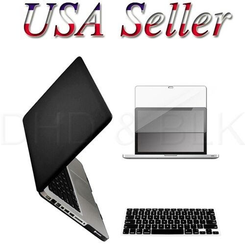 "3 in 1 Black Hard Case for Macbook PRO 13"" + Keyboard Cover + LED Screen Guard in Computers/Tablets & Networking, Laptop & Desktop Accessories, Laptop Cases & Bags 