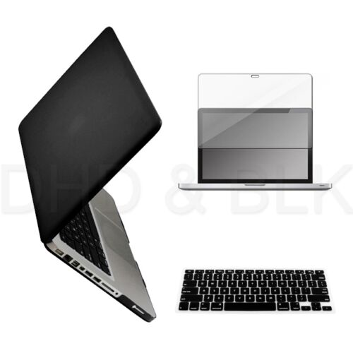 "3 in 1 Black Hard Case for Macbook Pro 15"" + Keyboard Cover + Screen Guard in Computers/Tablets & Networking, Laptop & Desktop Accessories, Laptop Cases & Bags 
