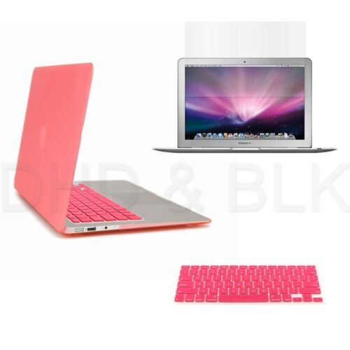 "3 in 1 Pink Hard Case for Macbook Air 11"" + Keyboard Cover + Screen Guard in Computers/Tablets & Networking, Laptop & Desktop Accessories, Laptop Cases & Bags 