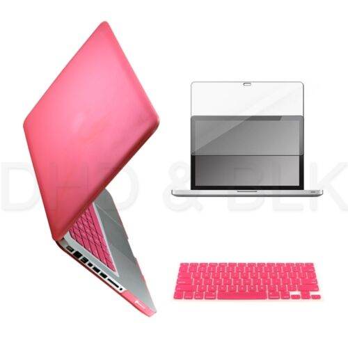 "3 in 1 Pink Hard Case for Macbook Pro 15"" + Keyboard Cover + Screen Guard in Computers/Tablets & Networking, Laptop & Desktop Accessories, Laptop Cases & Bags 