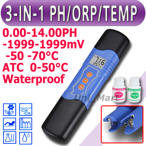 3 in 1 Waterproof pH / ORP / Temperature Meter Water Tester Oxidation ATC mV °C in Consumer Electronics, Gadgets & Other Electronics, Other | eBay