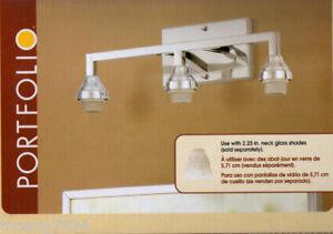 3 Light Comtempory Vanity Bar Bathroom Modern Lighting Fixture Chrome Finish