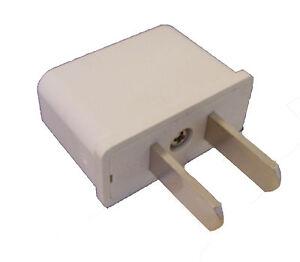 3 x deutschland reiseadapter reisestecker adapter stecker f r usa mexiko weiss ebay. Black Bedroom Furniture Sets. Home Design Ideas