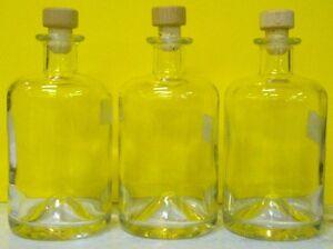 3 x flasche 0 5l leer mit korken leere flaschen lik rflaschen glasflasche glas ebay. Black Bedroom Furniture Sets. Home Design Ideas
