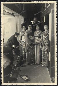 3-x-OLD-PHOTO-Nikko-japan-GEISHA-Hanamachi-GERMAN-SOLDIERS-WEHRMACHT