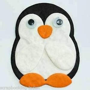 3 x pinguin mit wackelaugen weihnachten 5 cm scrapbooking 3 d basteln ebay - Pinguin basteln vorlage ...