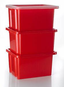 3 x stapelbox mit deckel aufbewahrungsbox kunststoffbox. Black Bedroom Furniture Sets. Home Design Ideas