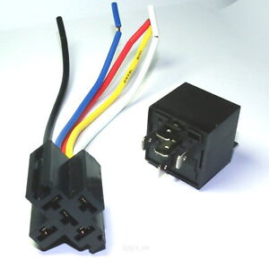 30 40 amp bosch style automotive relays sockets car. Black Bedroom Furniture Sets. Home Design Ideas