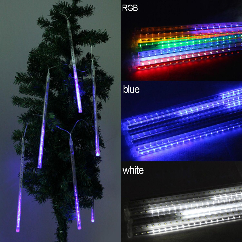 Turbo Universal Headlight Led String: 30/50cm 144/240 LED Meteor Shower Rain String Light
