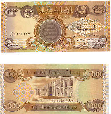 30 Day RV CERTIFICATE for A Million Iraqi dinars, plus a 1000-Dinar Note, Nice!