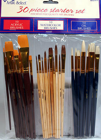 30 FINE ART PAINT BRUSHES FOR ACRYLIC, OIL, WATERCOLORS in Crafts, Art Supplies, Painting | eBay