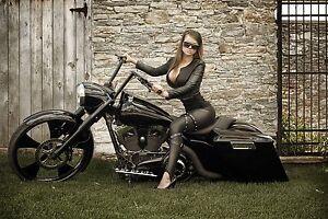 Black Harley Bagger Motorcycle