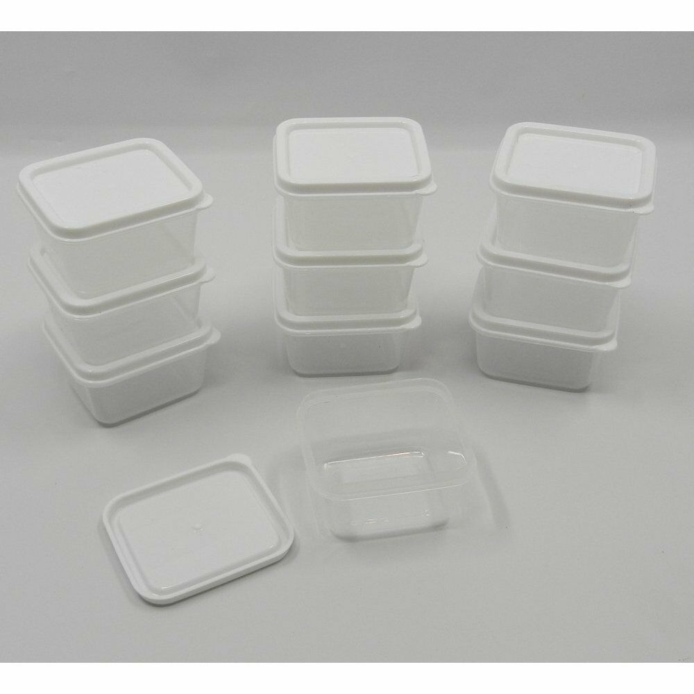 30 new mini small plastic craft storage containers w lids for Plastic craft boxes with lids