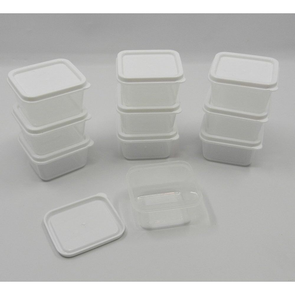 30 new mini small plastic craft storage containers w lids for Craft storage boxes with lids