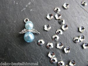 30 perlkappen mini 4 mm in silber perlen und engel basteln ebay. Black Bedroom Furniture Sets. Home Design Ideas