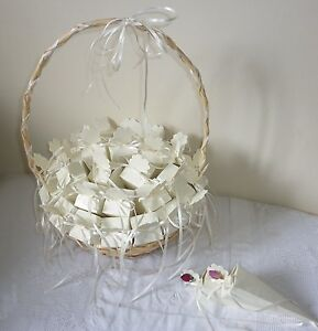 30 Wedding Confetti Cones Dried Rose Petal Confetti And Decorated Basket