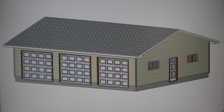 5 x 3 garage plans and material list details for Pole barn material list free