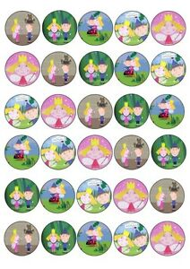 30 X BEN AND HOLLY MIXED IMAGES EDIBLE CUP CAKE TOPPERS ...