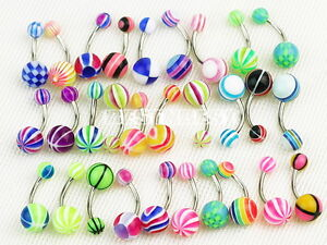 30-X-Stripes-Ball-Belly-Navel-Button-Bar-Ring-Barbell-Body-Piercing-Wholesale