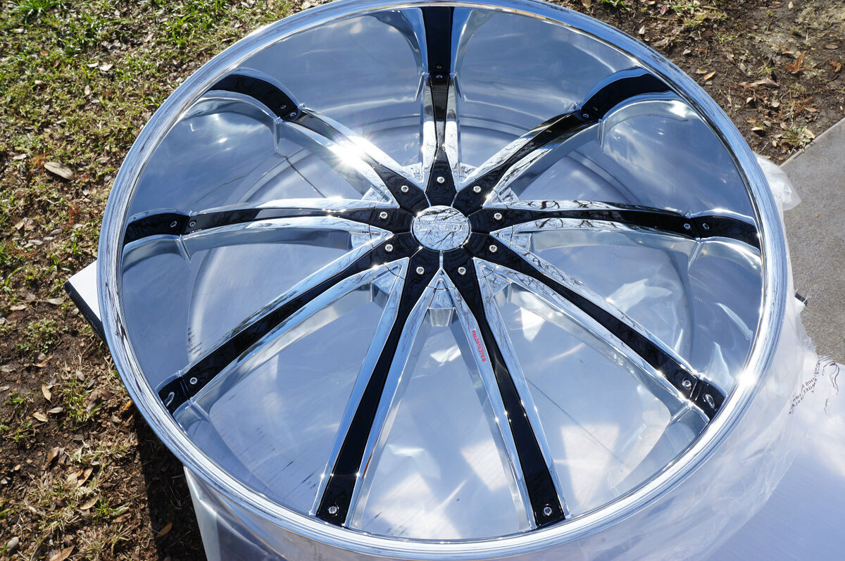 30 inch DW29 Wheels Rims and Tires Fit Chevy Cadillac GMC Nissan Ford Lincoln 6