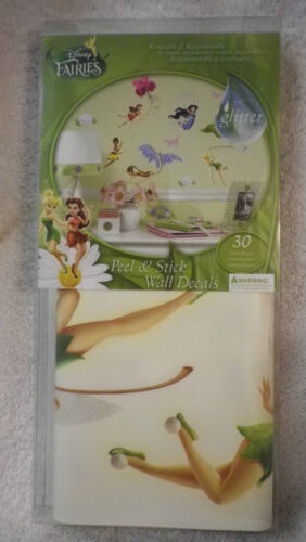 30 pc. Disney Fairies peel stick wall decals glitter girls decor Tinkerbell NIP in Home & Garden, Kids & Teens at Home, Bedroom, Playroom & Dorm Decor | eBay