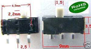 30-x-SMD-Sub-Miniatur-Schiebeschalter-MSK12D04-KNOB