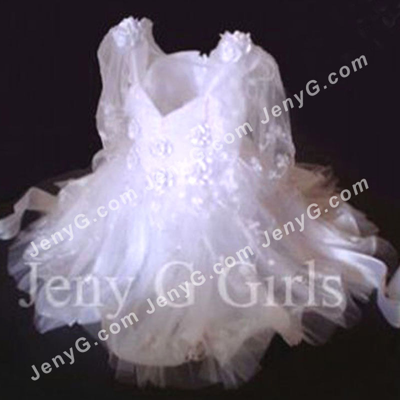 301 Flower Girls Communions Party Christening Gowns Dresses White 0 5