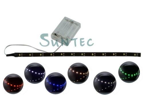 30cm led strip streifen lichterkette wasserdicht leiste band batteriebetrieben. Black Bedroom Furniture Sets. Home Design Ideas