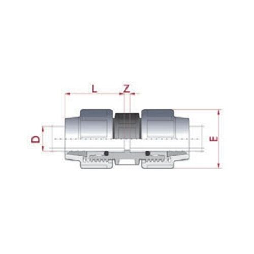 32-25-mm-PE-Rohr-Kupplung-reduziert-TOP-QUALITAT-Nr-340