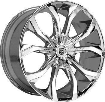 32 Lexani Lust Chrome Wheel Tire Package Rims Chevy GMC Escalade