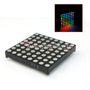 32-Pin-8x8-5mm-RGB-LED-Matrix-Modul-3-Farben-fuer-Arduino-Rainbowduino-Board
