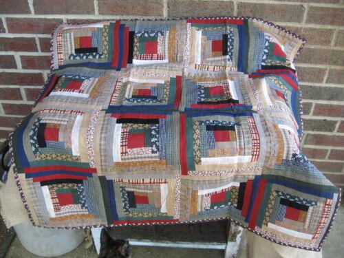 "32"" X 32"" PIECED GRANNY'S LOG CABIN TABLE SQUARE ~ NEW ~ PRIMITIVE DECOR~ in Antiques, Primitives | eBay"