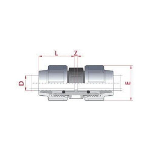32-mm-PE-Rohr-Kupplung-TOP-QUALITAT-Nr-308