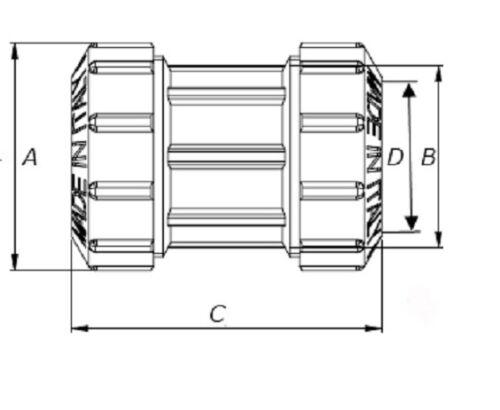 32-mm-PE-Rohr-Messing-Kupplung-mit-zwei-Verschraubungen-1-DVGW-TOP-N-172