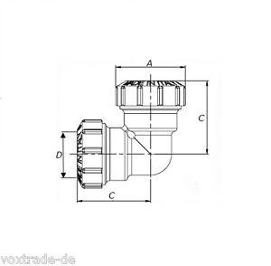 32-mm-PE-Rohr-Messing-Winkel-Verschraubung-zwei-1-Verschraubungen-DVGW-N-175