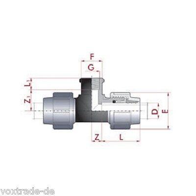 32 mm pe rohr t st ck mit 1 2 innengewinde top qualit t 334. Black Bedroom Furniture Sets. Home Design Ideas