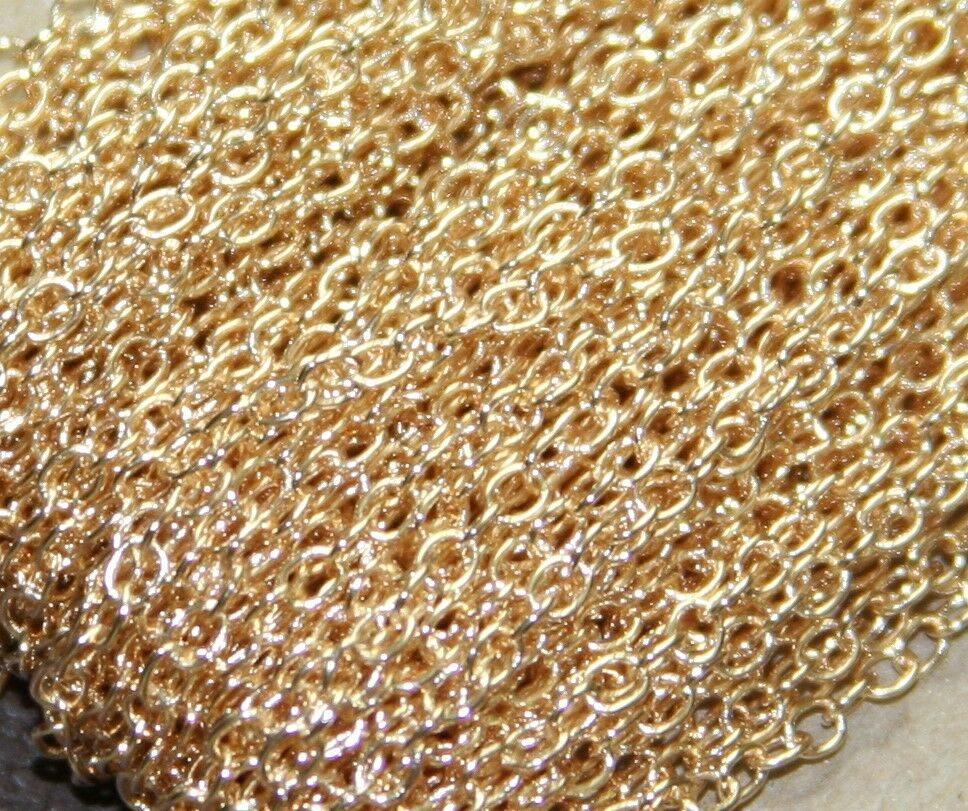 5ft of small cable chain round cable chain 2x2.5mm available in 6 colors