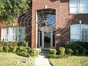 ... Web Rope Spider Giant Halloween House Yard Prop Decoration Inflatable