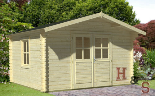 34 mm gartenhaus holzhaus holz ger tehaus schuppen blockhaus topangebot neu ebay. Black Bedroom Furniture Sets. Home Design Ideas