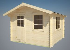 34 mm gartenhaus mosel ger tehaus blockhaus holzhaus gartenh user ebay. Black Bedroom Furniture Sets. Home Design Ideas