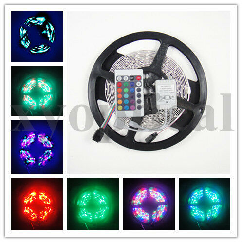 3528 SMD RGB 5M 300 led strip flexible light non-waterproof+IR remote controller in Home & Garden, Lamps, Lighting & Ceiling Fans, Light Bulbs | eBay