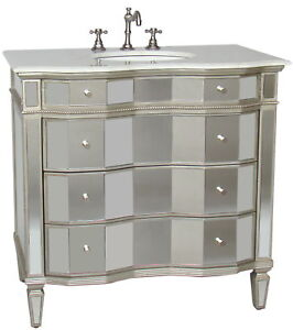 Bathroom Vanities  Sinks on 36  All Mirrored Ashley Bathroom Sink Vanity Cabinet Model Bwv 25 36