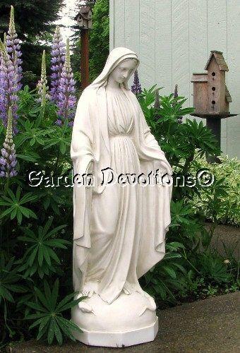 36 white virgin mary indoor outdoor garden statue new on