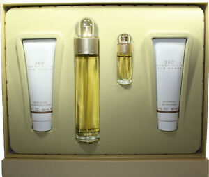 360 PERRY ELLIS  BY PERRY ELLIS 4PCS GIFT SET FOR WOMEN NEW IN GIFT BOX