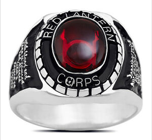 3666 SOLID SILVER PLATED OATH RED LANTERN RING | eBay Red Lantern Ring Oath