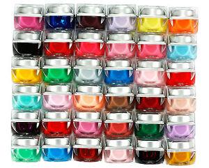 36tlg-x-Mischung-Solide-Farben-Nagel-Kunst-Profi-Nail-Art-UV-Gel-Set-K243