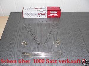 38-Speichen-Nirosta-2mm-x-WUNSCHLANGE-80-298-mm-Nippel-Fahrradspeiche-Niro