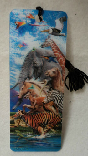 3D BOOKMARK made in the USA lenticular action tassel MIGRATION parrot camel tige in Books, Accessories, Bookmarks | eBay
